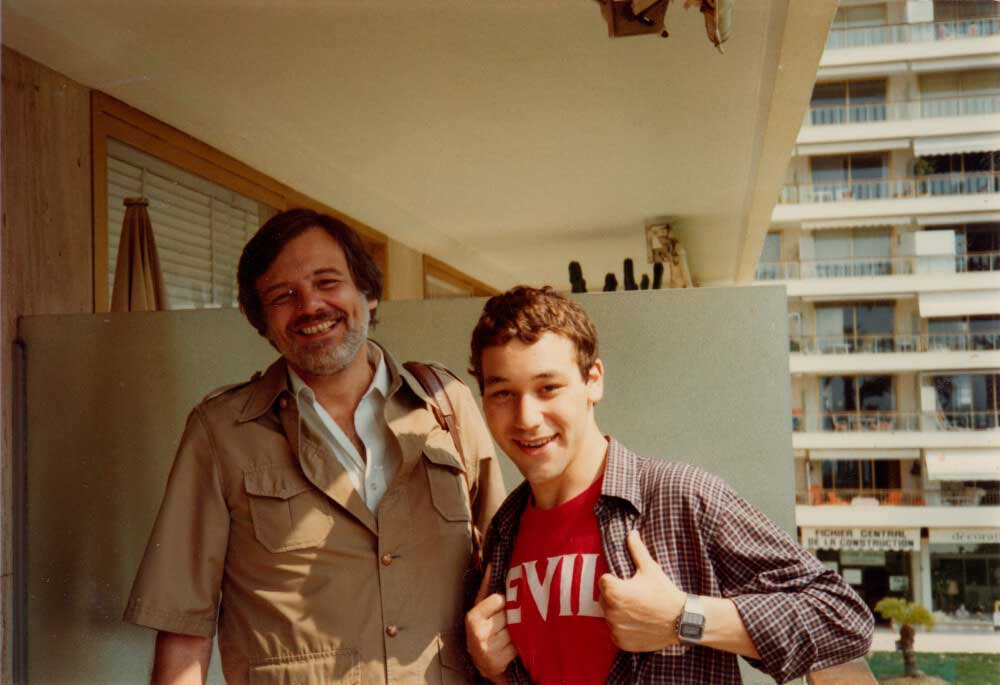 George-A.-Romero-and-Sam-Raimi-at-the-Cannes-Film-Festival-1982